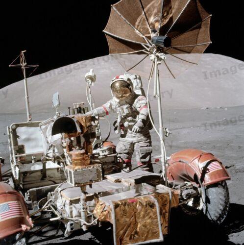 8x10 Print Apollo 17 Eugene Cernan Lunar Roving Vehicle Moon Surface 1972  #AP03