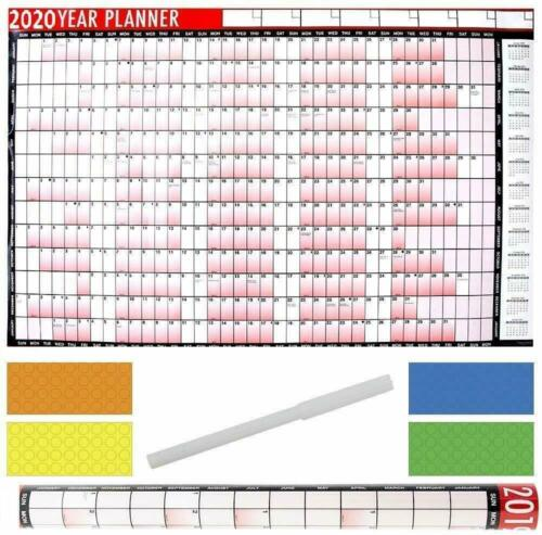 2020 Year Wall Planner A1 Large 85cm X 58cm Laminated Wall Calendar With And Dry
