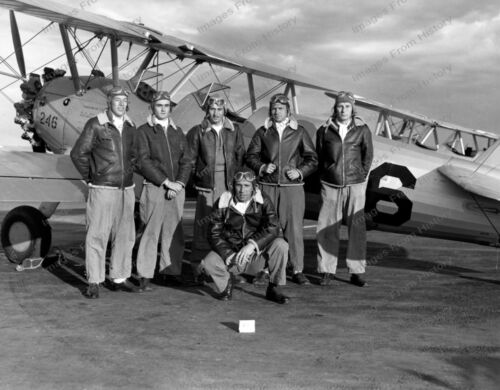 8x10 Print WWII Cadets Group Pose Aircraft 1943 #034