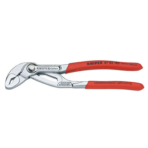 Knipex 87-03-180 7-1 4  Cobra Hightech Water Pump Chrome Plated Pliers