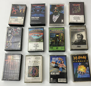 Vintage Cassettes Various Titles Rock and Roll Classic Rock and More