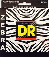 Dr Zebra Acoustic-electric Guitar Strings Zae-10 Lite 10-48