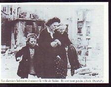 1985  --  DERNIERS HABITANTS EVACUANT LA VILLE DE SEDAN  T622