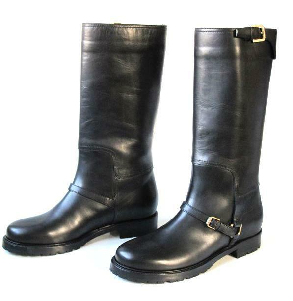 new $995 RALPH LAUREN collection Risa riding FLAT BOOTS shoes Italy 6.5 CLASSIC