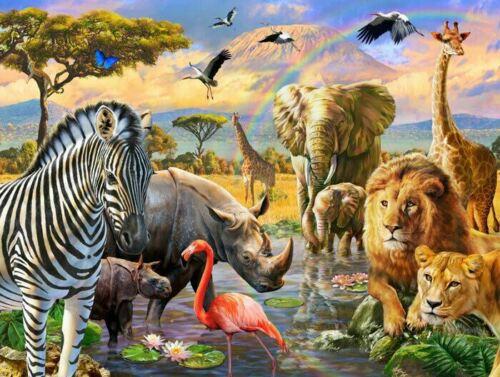Safari Animal Wall Mural Paper Kids Room Nursery Decor Art Sticker DIY Gift AM21