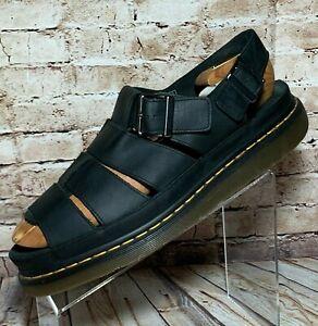 dr martens flash leather fisherman sandal 14 black leather