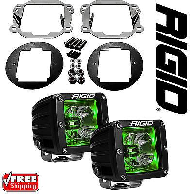 Rigid Radiance LED Fog Light Kit Amber Backlight for 07-18 Jeep Wrangler JK All