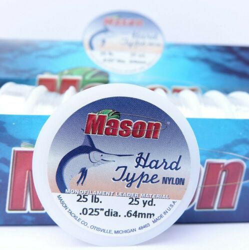 Mono 25 lb Ø 0,64 mm Superspule 23 Meter MASON Hard