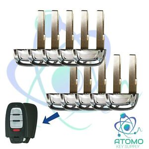 10 Pack New Replacement Uncut Smart Remote Emergency Key Blade for Mazda