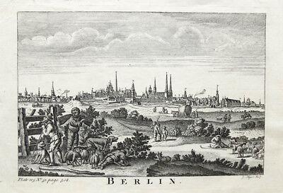 Hingebungsvoll C1750 Berlin Kupferstich-gesamtansicht Mynde