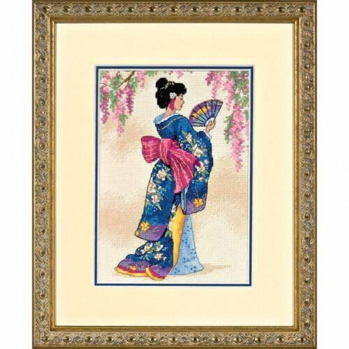 Dimensions Elegant Geisha D06953 Counted Gold Cross Stitch Kit
