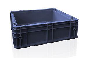12x-fabrikneue-Stapelkisten-Behaelter-R-KLT-4315-400x300x147-mm-schwarz