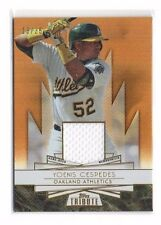 Yoenis Cespedes 2014 Topps Tribute, Forever Young, (Materials), Sepia, 13/35 !!
