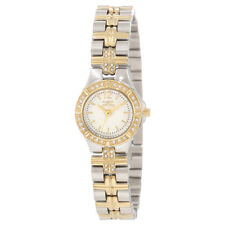 Invicta 0127 Women's Wildflower White Dial Crystal Accented Two Tone Steel Watch