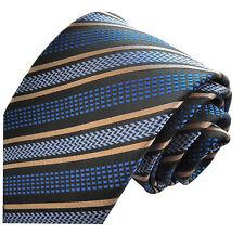 GIFTS FOR MEN Classic Mens Stripe Striped Silk Necktie Tie Black Blue Gold