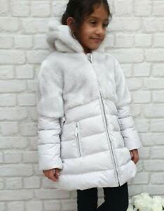 NUOVO-Autentico-ELSY-RRP-279-eta-3-ANNI-Grigio-Pelliccia-Down-Jacket-Coat-JK08