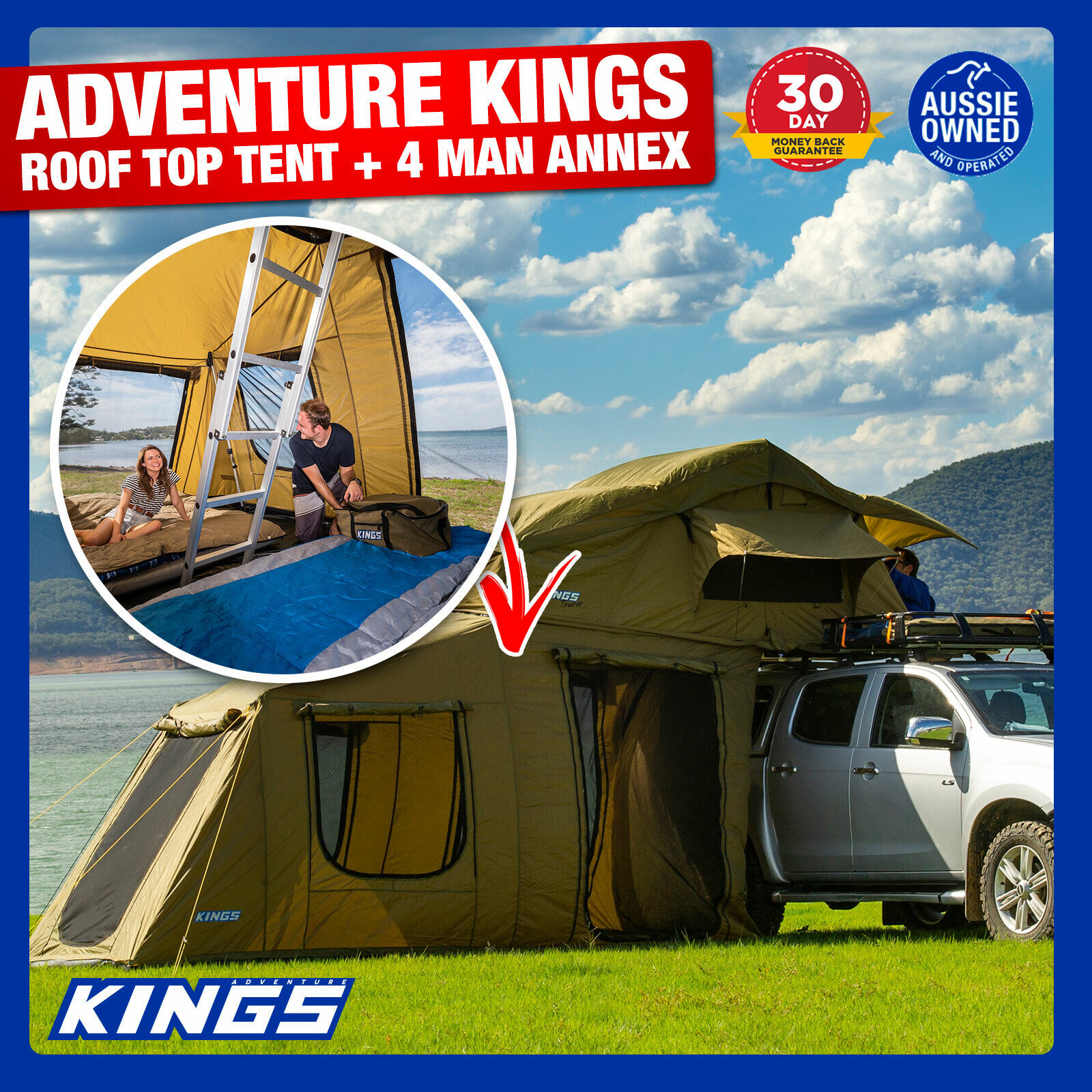 Adventure Kings Roof Top Tent Weight adventure kings roof top tent with 6 man annex waterproof canvas tent home  camp