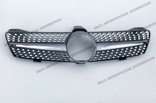 Mercedes C219 2004-08,single-fin grille,CLS63,CLS55 gloss BLACK//SERIES//AMG//look.