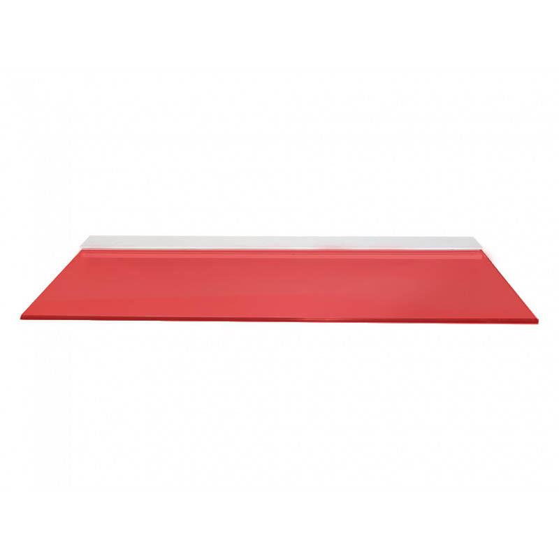 Mensole In Vetro Bianco.In Mensola Vetro Rosso Colore Vetro Mensole Bianco Alluminio In