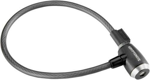 with Key 2.12/' x 12mm Black Kryptonite KryptoFlex 1265 Cable Lock