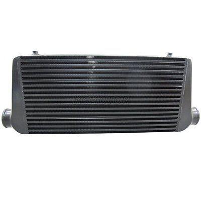 "Universal Front Mount Black Intercooler 600x300x76 Bar & Plate 3"" Core"