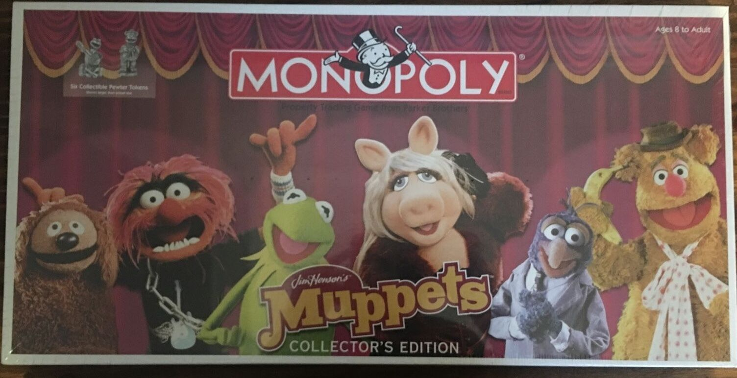 Muppets Collectors Edition Monopoly Board Game Hasbro 2003 Sealed