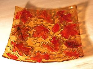 Autumn Leaves Texture - Glass Fusing Mold #DT24