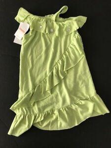 NWT Gymboree Girl sz 3  PALM BEACH Green Gem One Shoulder Summer Dress