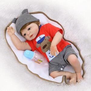 2650506f3355 23  034  Boy Full Body Silicone Reborn Baby Sleeping Doll Soft Vinyl ...