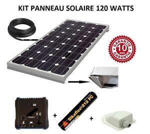 Kit panneau solaire 120 watts 12V monocristallin  pour bateau