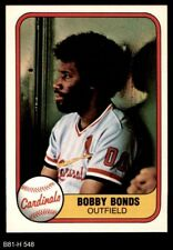 1981 Cardinals Fleer 548 Bobby Bonds For Sale Online Ebay