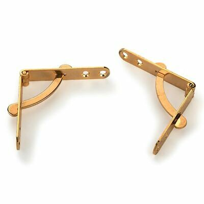 """Pair 2 1//2"""" SOLID POLISHED BRASS HINGES 64 X 32 X 1.5 MM"""