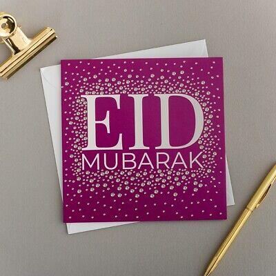 Eid Mubarak Cards Purple Diamote Scatter Printed In The Uk Ebay
