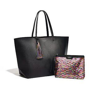 Victoria s Secret Limited Edition Black Friday Tote Bag Sequin Pouch 2016 8f41b4ca7d