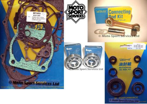 Honda Cr 250 89-91 Mitaka Embout Bas Kit Reconstruction Moteur Barre Secteur