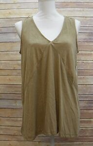 Style-amp-Co-Womens-Top-V-Neck-High-Low-Hem-Knit-Tank-Top-Tobacco-Tan-S