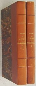 """CORRESPONDANCE DE MADAME DE LA FAYETTE Beaunier 1942 Lafayette 2 tomes reliures - France - Commentaires du vendeur : """"Voir descriptif."""" - France"""