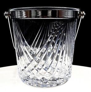 Brillante-Corte-Cristal-Diamante-Bloque-amp-Mitre-Metalicos-Borde-13-3cm-Hielo