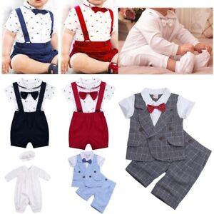 1727ab116af5a Image is loading Toddler-Kids-Baby-Boys-Gentleman-Suit-Jumpsuit-Romper-