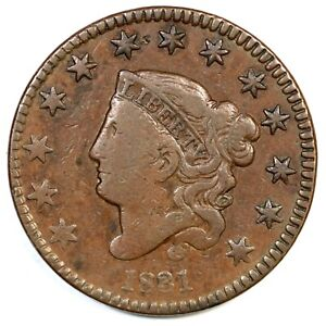 1831-N-5-R-4-Med-Letters-Matron-or-Coronet-Head-Large-Cent-Coin-1c