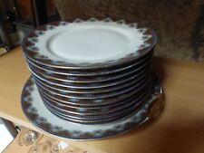 SERVICE A DESSERT PORCELAINE DE LIMOGES 12 assiettes + plat à tarte superbe