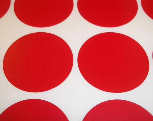 100 Red 15mm (1/2 Inch) Colour Code Dots Round Stickers Sticky ID Labels