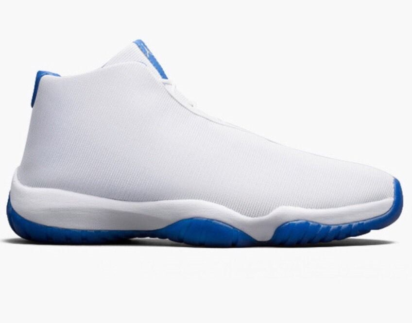 NIKE AIR JORDAN FUTURE.. WHITE/ SPORTS BLUE.. LOWEST PRICED FROM USA SELLER!!