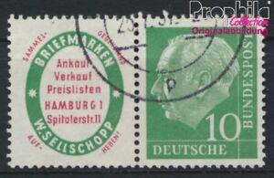Intelligent Rfa (fr.allemagne) W4 Oblitéré 1955 Heuss (8910234 Chaud Et Coupe-Vent