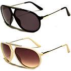 NEW Classic Retro Men's Fashion Aviator's Vintage Designer Sunglasses Black