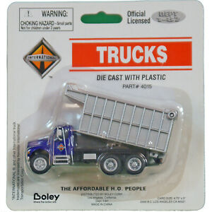 Diecast-Blue-and-Silver-Industrial-Dump-Truck-HO-1-87-by-Boley-Layout-Vehicle