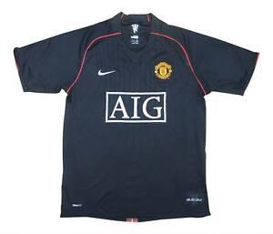 Manchester United 2007-08 ORIGINALE AWAY SHIRT (bene) M SOCCER JERSEY