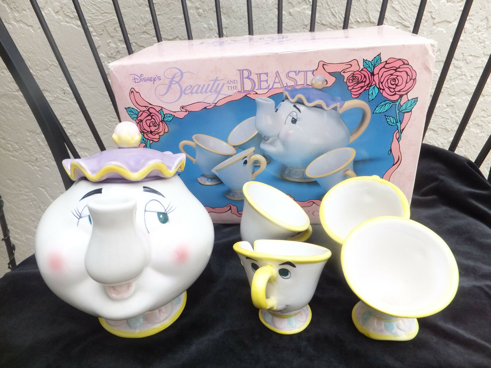 Vintage Disney S Beauty And The Beast Toy China Tea Set Mrs Potts