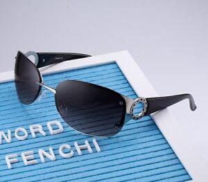 1b3491a3557 Image is loading FENCHI-Women-Metal-Rimless-Glasses-Driving-Mirror-Fashion-