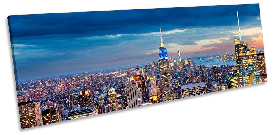 New York NYC Manhattan Picture PANORAMA CANVAS WALL ART Print
